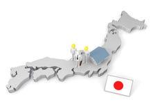 Fazendo o negócio em Japão Foto de Stock Royalty Free