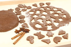 Fazendo o pão-de-espécie Foto de Stock