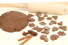 Fazendo o pão-de-espécie Imagem de Stock Royalty Free