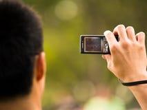 Fazendo o vídeo Imagem de Stock