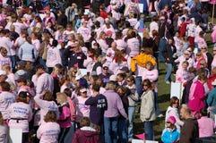 Fazendo passos de encontro ao cancro da mama Imagens de Stock
