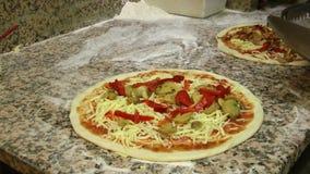 Fazendo a pizza vídeos de arquivo