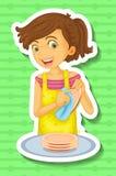 Fazendo pratos Imagens de Stock