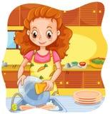 Fazendo pratos Foto de Stock