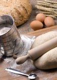Fazendo a série 020 do pão Imagens de Stock