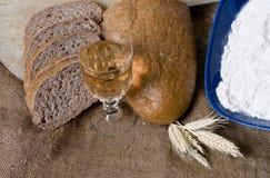 Fazendo a série do pão fotos de stock