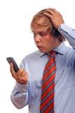 Fazendo um atendimento de telefone Imagens de Stock