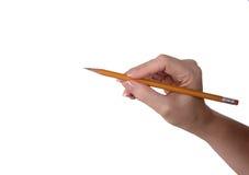 Fazendo um ponto com um lápis Imagem de Stock