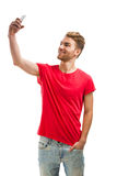Fazendo um selfie Imagens de Stock