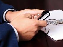 Fazendo uma chamada. Foto de Stock