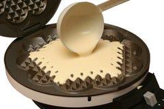 Fazendo waffles Fotos de Stock
