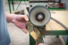 Fazer à máquina do close up de cobre do produto Fotografia de Stock