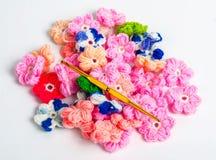 Fazer crochê materiais Imagem de Stock