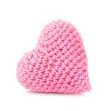 Fazer crochê o coração bonito Foto de Stock Royalty Free