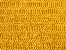 Fazer crochê o teste padrão de único e triplo fazer crochê o ponto Fotos de Stock