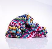 fazer crochê ou fazer crochê a cobertura em um fundo Fotografia de Stock