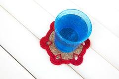 Fazer crochê a pousa-copos Foto de Stock Royalty Free