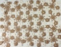 Fazer crochê a textura Imagens de Stock Royalty Free