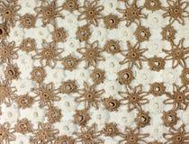 Fazer crochê a textura Fotografia de Stock Royalty Free
