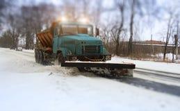 Fazer do arado de neve imagem de stock