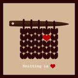 Fazer malha é amor Imagens de Stock