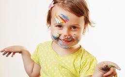 Fazer pequeno bonito do bebê compõe a imagem cômico Fotografia de Stock Royalty Free