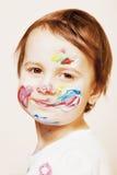 Fazer pequeno bonito do bebê compõe a imagem cômico Foto de Stock Royalty Free