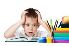 Fazer triste da estudante é trabalhos de casa Imagem de Stock Royalty Free