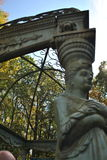 Fazit des Gartengebäudes mit Metalldach Lizenzfreie Stockfotografie
