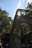 Fazit des Gartengebäudes mit Metalldach Stockbild