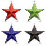 fazująca metalu kształta gwiazda Zdjęcie Royalty Free