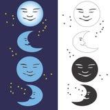 fazy księżyca Obrazy Royalty Free