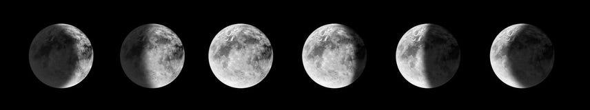 fazy księżyca Zdjęcie Royalty Free