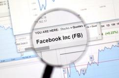 FB -Facebook股票 库存照片