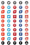 Fb twitter youtube google pinterest vector illustration