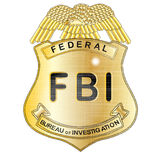 FBI徽章 库存照片