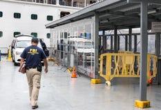 FBI证据反应队工作 免版税库存照片