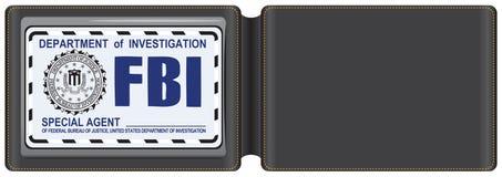 FBI证明的皮革盒 免版税图库摄影
