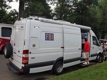 FBI车在全国晚上 库存图片