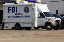 FBI Beweis-Warteteam Stockfoto