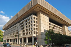 FBI building in Washington DC. WASH DC - CIRCA JULY 2009: FBI building circa July 2009 in Wash DC, USA. The official name of building is J.Edgar Hoover Building Royalty Free Stock Photography