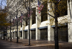 FBI headquarter in Washington. The headquarter of FBI is placed in Washington where the street makes the building very anonymous Royalty Free Stock Photography
