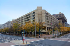 FBI J Edgar Hoover Building in Washington DC. FBI or Federal Bureau of Investigation J Edgar Hoover headquarter building front view on Pennsylvania Avenue as a Royalty Free Stock Photo