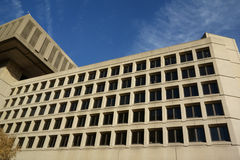 FBI J Edgar Hoover Building in Washington DC. FBI or Federal Bureau of Investigation J Edgar Hoover headquarter building side view on Tenth St NW as a law Stock Photography