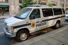 FBI police car. FBI car parked in front of FBI building in Washington DC Stock Image
