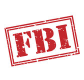 Fbi red stamp. On white background Royalty Free Stock Photos