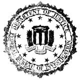 FBI Rubber Stamp Royalty Free Stock Photo