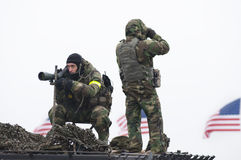 Fbi-Scharfschützen auf nationalem Mall Stockfotos