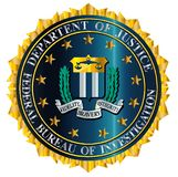 FBI Seal Mockup Over A White Background. Mock up of the seal of the Federal Bureau of Information over a white background vector illustration