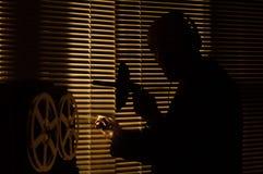 FBI secret agent listens and records the conversation 3 stock image